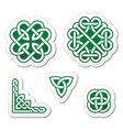 Celtic green knots patterns - vector image