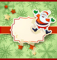 christmas background with happy santa on snow vector image
