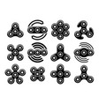 fidget spinner stress relief toys icons vector image