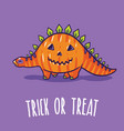 halloween poster or greeting card with cartoon vector image