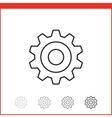 icon of gear vector image