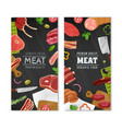 meat market banners set vector image