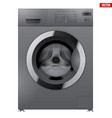 modern silver washing machine vector image