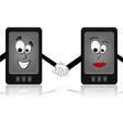 Phone love vector image