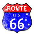 route 66 bullet holes vector image