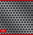 silver metal background with circle holes vector image