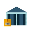 warehouse with box icon vector image