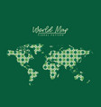 world map floral pattern with diamond forms on vector image