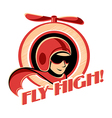 Aviator sticker vector image vector image