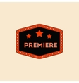 movie label in flat style vector image