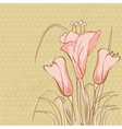 Vintage card with lily vector image