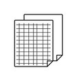 grid sheet to study and write activities vector image