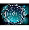 Happy New Year background silver and blue vector image vector image