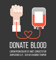 blood donation flat style vector image