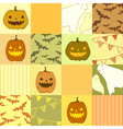 Seamless pattern with ghosts pumpkins bats vector image