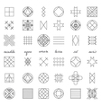Set of geometric hipster shapes45 vector image