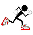 Runner character vector image vector image