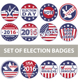 Voting Badges vector image