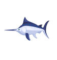 cartoon isolated marlin vector image