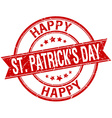 happy st Patricks day grunge retro red isolated vector image