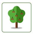 Cherry tree icon vector image vector image