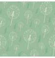 Dandelion seamless pattern on a pastel background vector image