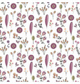 Flowers decorative seamless pattern vector image