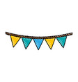 garlands carnival isolated icon vector image