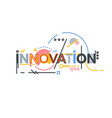 innovation text banner vector image