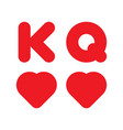 king and queen playing card icons vector image