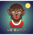Werewolf Avatar Role Character Bust Icon Halloween vector image