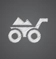 wheelbarrow sketch logo doodle icon vector image