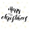 Merry Christmas lettering Hand drawn vector image