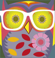 vintage cartoon owl poster vector image