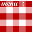Menu design tablecloth texture vector image vector image