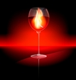 fire in a glass vector image vector image