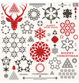 Christmas New Year Vintage vector image vector image