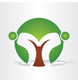 abstract tree people design vector image