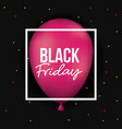 black friday poster with white frame over magenta vector image