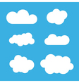 Cloud icons set White outline vector image
