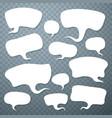 cloud talk set art shape vector image