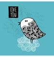 Creative of doodle bird vector image
