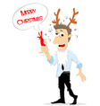 Drunk man in christmas party vector image