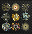 gigantic fireworks with big explosion flame burst vector image