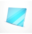 Glass plates vector image