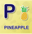 pineapple alphabet background vector image
