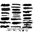 Set of grunge brush vector image