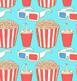Sketch cinema set in vintage style vector image