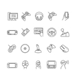 video games gadget icons vector image vector image