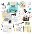 Vintage Accessories For Journalist Writer vector image